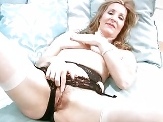 Horny Mature In Lingerie Finger Masturbation