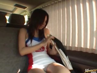 Lustful Asian Teen Sumika Matsushita Gets Fucked and Facilized in a Car