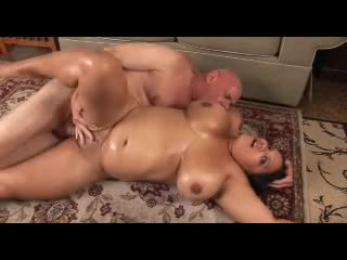 Fat oiled up slut fucked hard