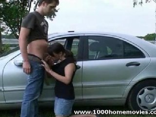 outdoor teen blowjob