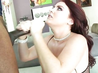 After her ass is slammed, Sophie Dee gets a faceful