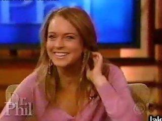 Bonerific Redhead Babe Lindsay Lohan Runs and Makes Her Boobies Bounce