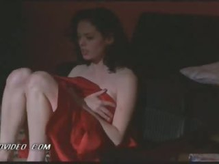 Breathtaking Brunette Rose McGowan Exposes Her Meaty Boobs and Panties