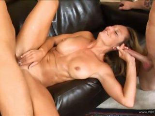 Blond Cougar Brenda James In MMF Threesome