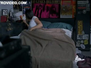 Sexy Brunette Aimee Garcia Gets Up From Her Water Bed