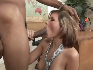 Huge black cock for the natural white girl