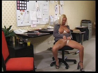 Sexy Blonde Fucks Her Big Cock Co-ed At The Office