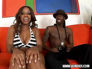 big booty Ebony girl gets fucked by black dude.