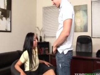 Latin cutie Milla Mason getting rammed by her professor