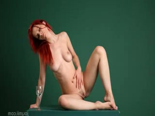 Redhead Arial beauty on billiards