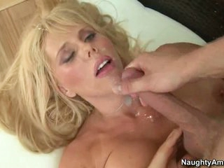 Samantha Silver like the warm cum dropping on face