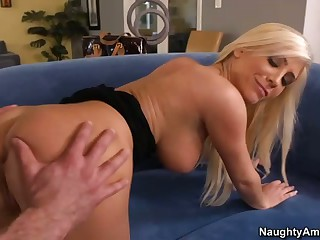 Stiff dick for pretty big tit blonde Tasha Reign