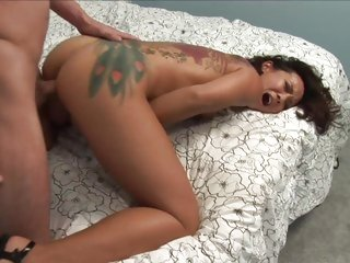 Tattooed Jandi Lin loves getting her pussy slammed