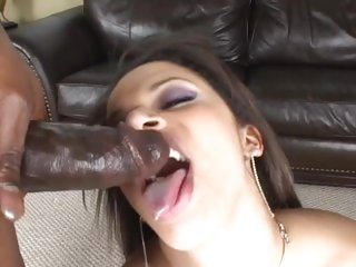 Alexis Silver gets her face sprayed with hot jizz