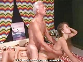 Bikini babe seduces a senior stud
