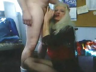 Blonde Transgender Amateur Cock Sucking