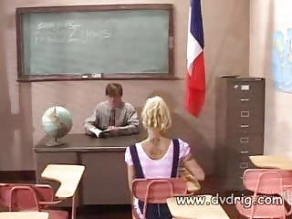 Teen Schoolgirl Cindy Crawford Is Punished By Teacher for Her Missing Homeworks But Teaches Him A Lesson Fucking Him Instead And Sucking His Dick