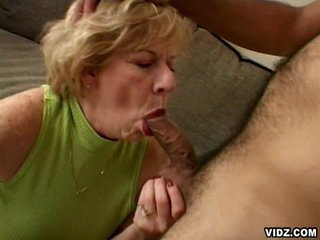 Blonde oldy takes limelight after long time of cock scarcity