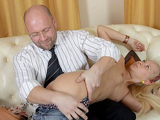 Watch Missy working with her cute mouth. Her desire to get a good mark is huge and her wet slit is so appetizing.