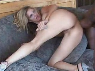Blonde Takes Interracial Ass Plowing