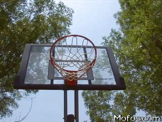 These slutty babes love playing with balls. The big tits whore wins a basketball game and she gets her prize, a bick juicy cock. She gets inside the house with this guy and starts sucking his cock and his balls with pleasure. The guy rips her t-shirt, reveals her big round tits and puts his dick between them.