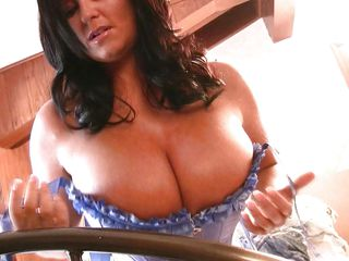 What comes in your mind when you see such huge boobs babe in front of your eyes. I bet, you will just say 'wow'. Look at these big natural tits. Its like they are taunting us to come closer and to give nice lick. Watch her moving her boobs and naked body around the camera.