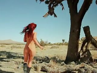 Wanna see some American beauties going hot and wild? Then stay tuned and enjoy the tv show. Dream Dates always presented the hottest pieces of ass and these two damn are hotter then the desert. A lustful devilish redhead roams wild in the desert while a brunette hottie relaxes in her garden