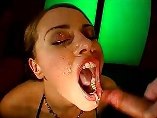 German Babe Sucks Tons of Dicks
