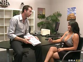 Big Tittied Pornstar Sophia Lomeli Blowjobs and Fucks a Big Cock
