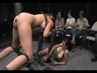Delilah Strong long BDSM scene with an audience