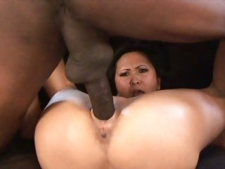 Voluptuous Kitty Langdon rides her pussy on a huge dick