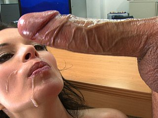 Big titted Bailey Brooks fucking and swallowing